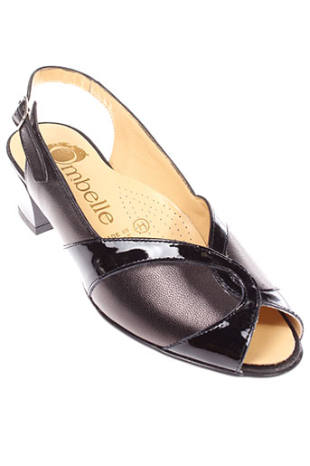 ombelle sandales et nu et pieds femme de couleur noir
