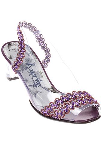 azuree sandales et nu et pieds femme de couleur violet