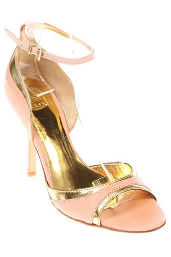 fluxa sandales et nu et pieds femme de couleur rose