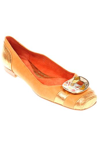 fluxa chaussures femme de couleur orange