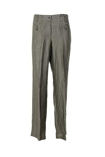 monari pantalons femme de couleur gris