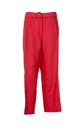 lucia pantacourts femme de couleur rouge