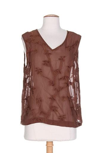 lucia chemises femme de couleur marron
