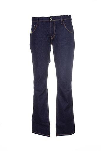 a et style jeans et coupe et droite homme de couleur bleu