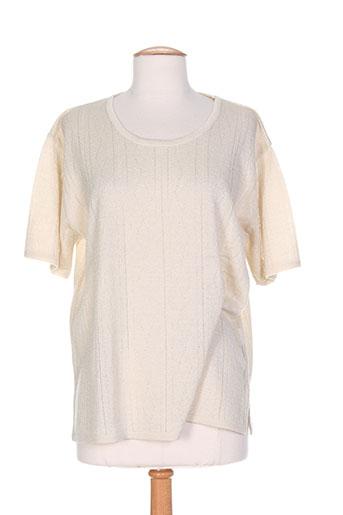 eleane pulls femme de couleur beige