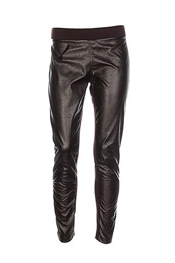 ams pure pantalons femme de couleur marron