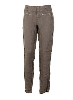 Pantalon casual marron ONE STEP pour femme