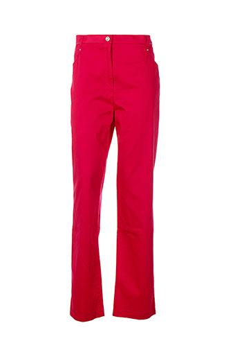 christine et laure pantalons et decontractes femme de couleur rouge