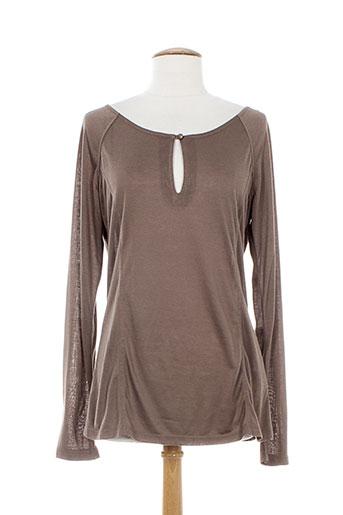 by joos t-shirts femme de couleur marron