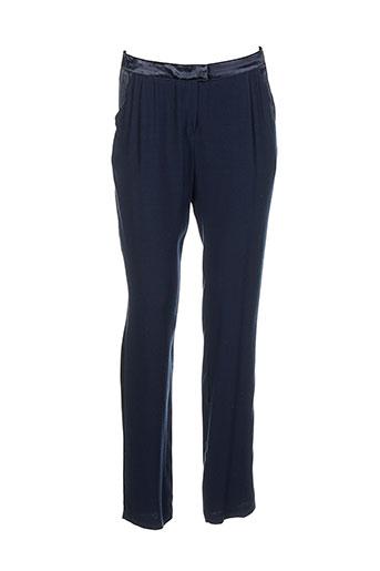 la petite francaise pantalons femme de couleur bleu