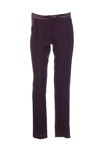 la petite francaise pantalons femme de couleur violet