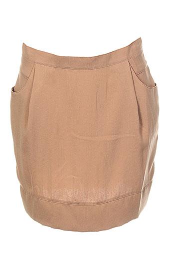 biscote jupes femme de couleur marron