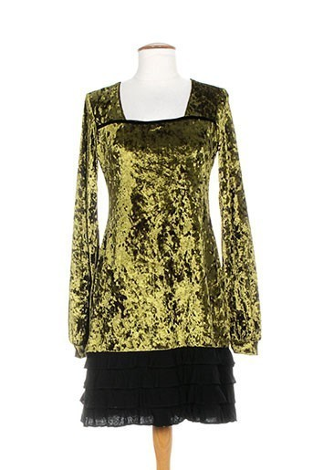 amarillolimon robes femme de couleur vert