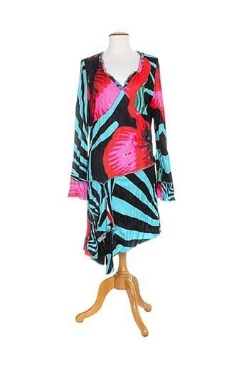 Robe mi-longue rouge DISLAY pour femme