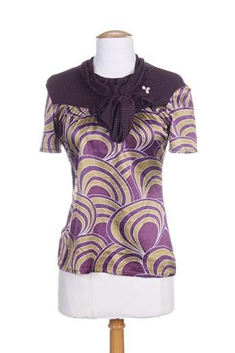 amarillolimon t et shirts et tops femme de couleur violet