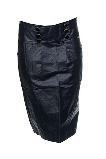 Jupe mi-longue noir AMARILLOLIMON pour femme