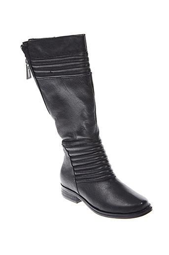 ilario et ferucci bottes femme de couleur noir