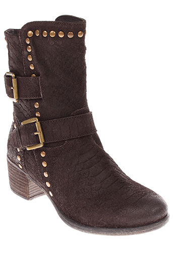 stressless bottines femme de couleur marron
