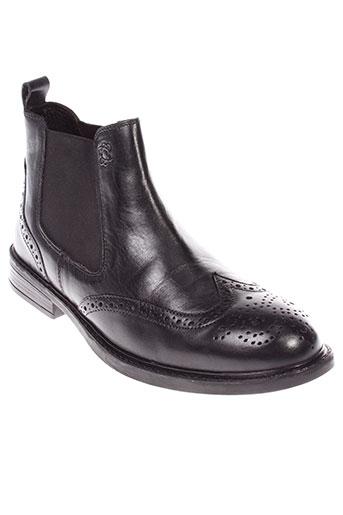 stressless boots homme de couleur noir