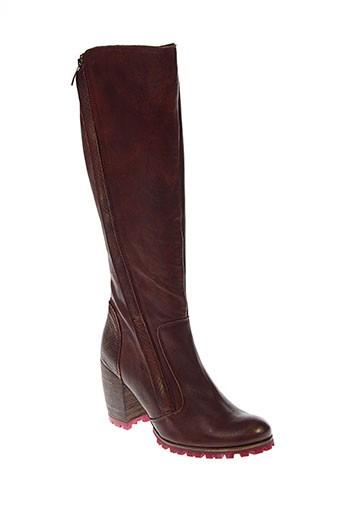 karston bottes femme de couleur marron
