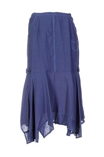 Jupe longue bleu ATIAN pour femme