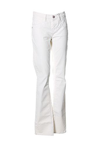 cks pantalons femme de couleur blanc