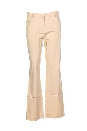 mori castello pantalons femme de couleur beige