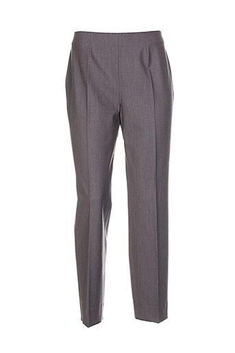 piazza sempione pantalons femme de couleur gris