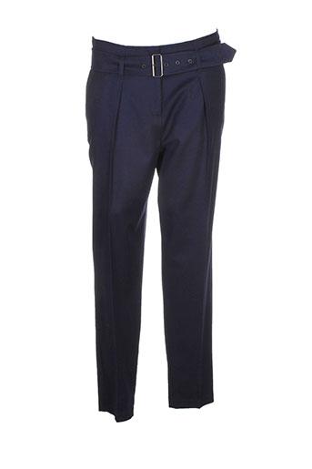 luisa cerano pantalons femme de couleur bleu
