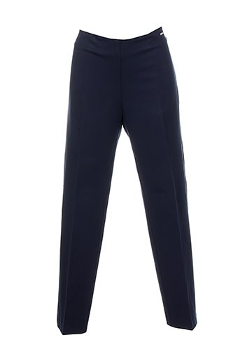 carla montanarini pantalons femme de couleur bleu