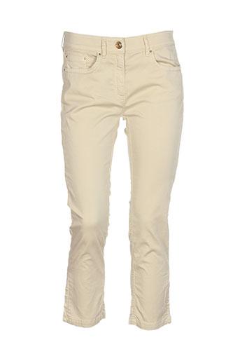 zerres pantacourts femme de couleur beige