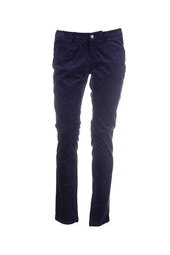 manoukian pantalons femme de couleur bleu