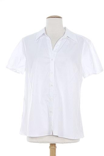 bruno saint hilaire chemises femme de couleur blanc