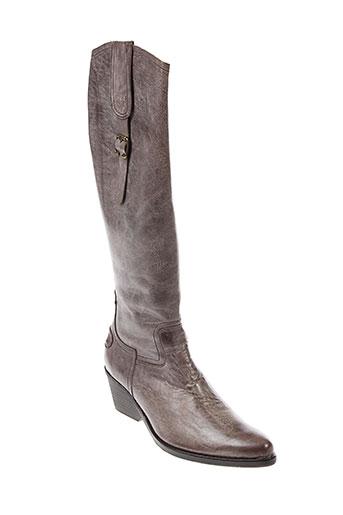 stephane et gontard bottes femme de couleur marron