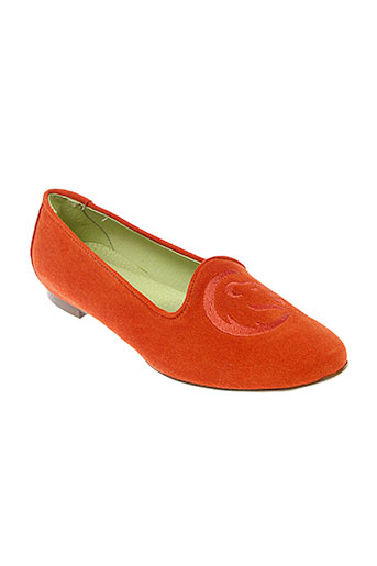 stephane et gontard ballerines femme de couleur orange