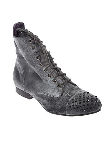 couleur et pourpre bottines femme de couleur gris