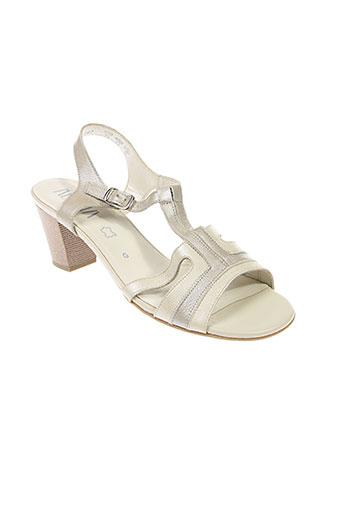 alpina chaussures femme de couleur beige