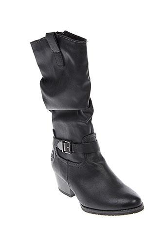 marco et tozzi bottes femme de couleur noir