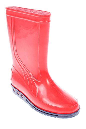 sarraizienne bottes enfant de couleur rouge