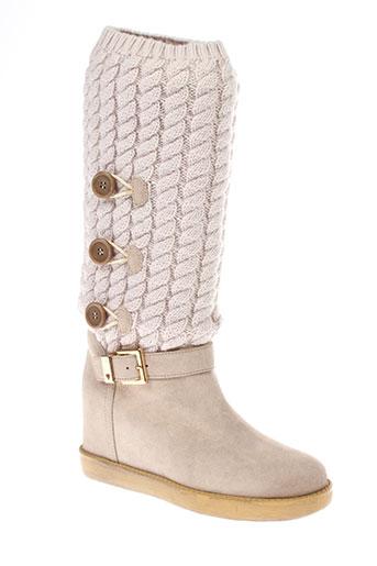 twin et set bottes femme de couleur beige