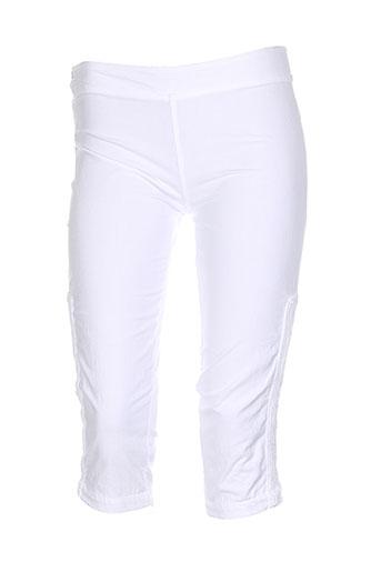 la cotonnière shorts / bermudas femme de couleur blanc