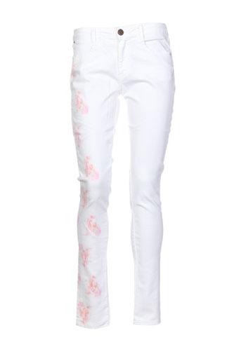cheyenne pantalons femme de couleur blanc