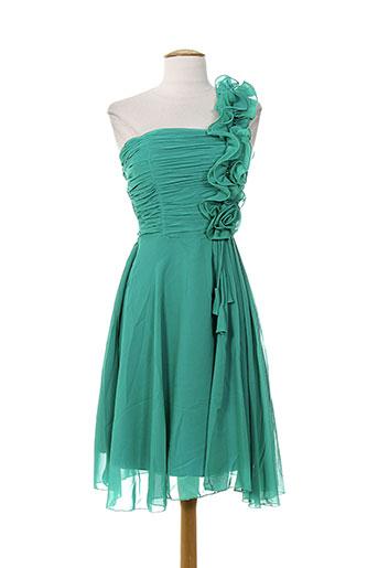 b.b wang robes femme de couleur vert