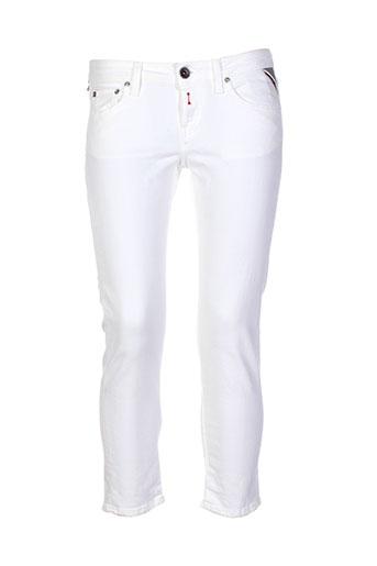 replay jeans femme de couleur blanc