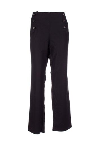 mademoiselle.r pantalons femme de couleur noir