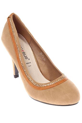 foli folio chaussures femme de couleur marron