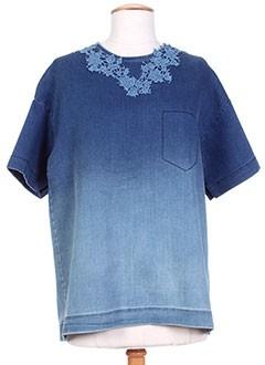 T-shirt manches courtes bleu ERMANNO SCERVINO pour femme