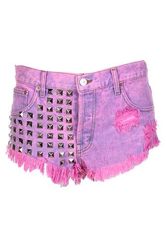 runwaydreamz shorts / bermudas femme de couleur rose