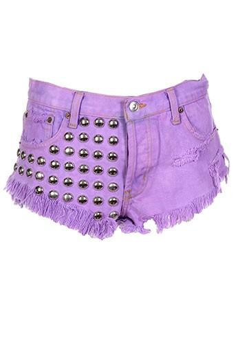 runwaydreamz shorts / bermudas femme de couleur violet