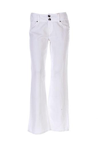 ddp pantalons femme de couleur blanc